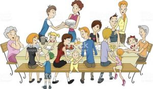 The Whole Family Gathering - Vector