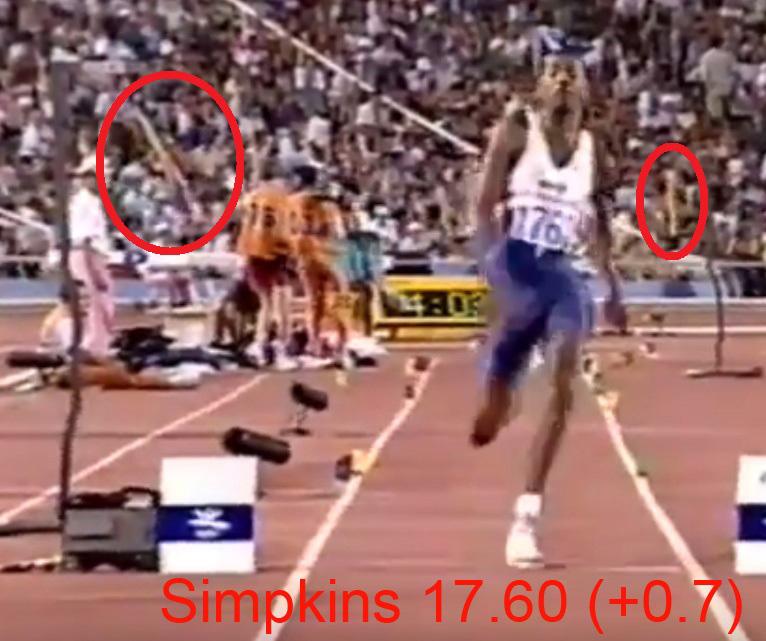 Charlie Simpkins 17.60 Barcelona 92