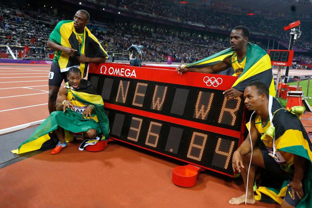Bolt Londres 4x100 equipo