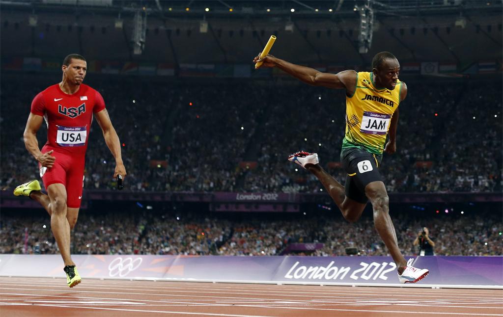 Bolt Londres 4x100