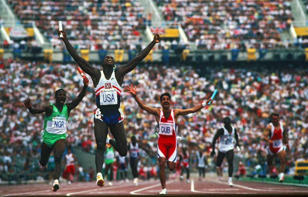 Lewis Barcelona 4x100