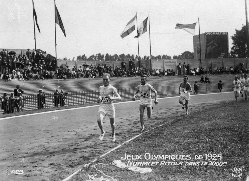 Paavo Nurmi ja Ville Ritola Pariisin olympialaisissa 1924.